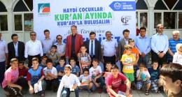 Çekmeköy'ün çocukları Kur'an'la buluşuyor