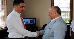 Başkan Can'dan Kaymakam Dervişoğlu'na hoşgeldin ziyareti