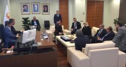 Başbakan Davutoğlu, Başkan Polat'ı dinledi