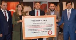 Aykurt Nuhoğlu takdiri aldı!