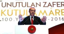 """Cumhurbaşkanı Erdoğan, """"Devlet geleneğimiz boyunca yüreğimizle ve bileğimizle hakkını vermediğimiz hiçbir zaferimiz yoktur"""""""