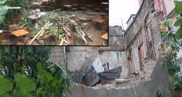 Kadıköy'de duvar çöktü, 3 yaralı