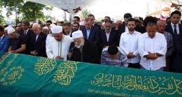 Cumhurbaşkanı Erdoğan, Milli Görüşün öncülerinden Önügören'in cenaze törenine katıldı