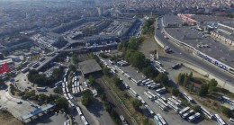İstanbul otogarında otobüs yoğunluğu