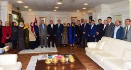 """""""Medeniyet Yolcuları"""" heyeti Başkan İsmail Erdem'i ziyaret etti"""