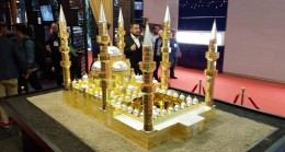 Çamlıca Camii altın makette