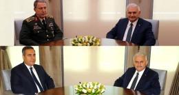 Başbakan Binali Yıldırım, Fidan ve Akar'la görüştü