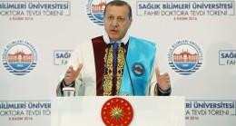 """Cumhurbaşkanı Erdoğan, """"Terörist gibi davranırsanız, terörist muamelesi görürsünüz"""""""