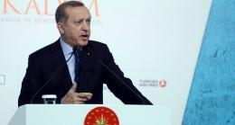 """Cumhurbaşkanı Erdoğan, """"Topunuz evet dese ne yazar"""""""