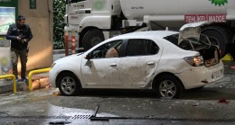 Benzin istasyonuna patlayıcı atıldı