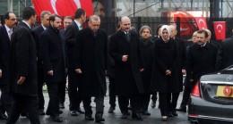 Cumhurbaşkanı Erdoğan, Şehitler Tepesi'nde incelemelerde bulundu