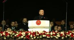 """Şehitlere Saygı Maçında konuşan Cumhurbaşkanı Erdoğan """"Biz tek milletiz"""""""