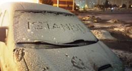 İstanbul'da yükseklerde kar