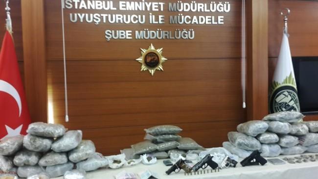 İstanbul'da bin 500 polisle kapsamlı uyuşturucu operasyonu