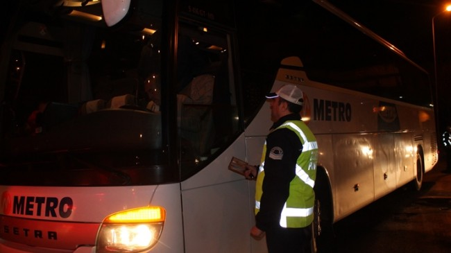 Şehirlerarası otobüslere de 'sivil trafik uygulaması'