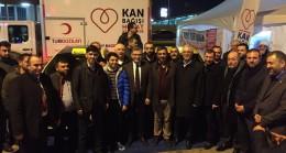 Başkan Türkmen'den kan bağışında bulunan taksici esnafa teşekkür