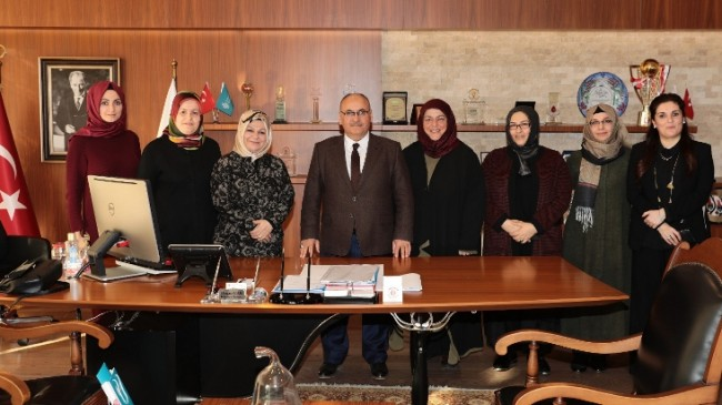Başkan Can, Gazeteci-Yazar Eraslan ile Başkan Döğücü'yü ağırladı
