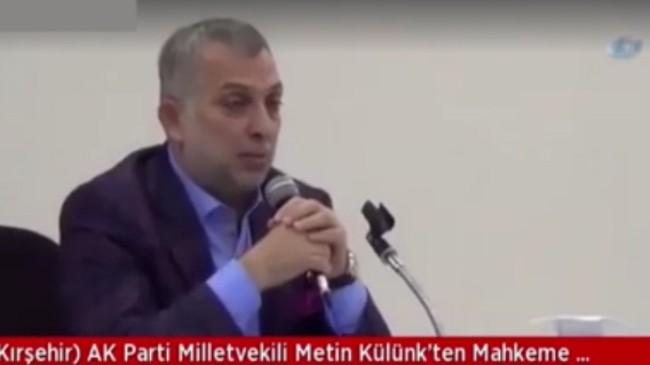 """Milletvekili Külünk, """"Bu örgütün hepsine tek tip elbise giydirilmelidir"""""""