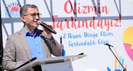 Başkan Türkmen, otizmin farkında