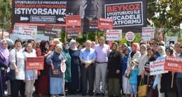 Beykoz'un AK Kadınlarından uyuşturucu kampanyasına güçlü destek