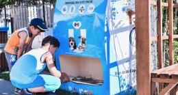 Hayvan dostu Üsküdar Belediyesi'nden mama makinesi