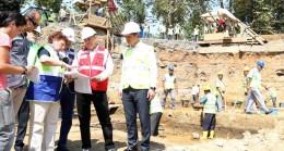 Başkan Topbaş, metro kazı alanını inceledi