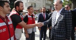 Cumhurbaşkanı Erdoğan, emniyet mensupları ve vatandaşlarla bayramlaştı