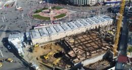 Taksim'e yapılacak cami inşaatı sürüyor