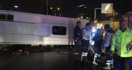 Kadıköy'de otobüs devrildi iki ölü