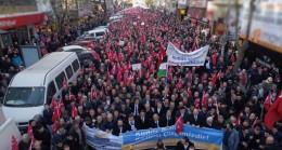Kudüs için toplanan binlerce Ümraniyeliden Trump'a müthiş tepki