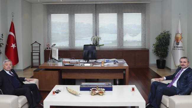 İTO Başkanı Öztürk Oran'dan İl Başkanı Bayram Şenocak'a hayırlı olsun ziyareti