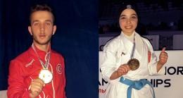 Milli karateciler Keyda Nur Çolak ile Hasan Arslan, Avrupa Şampiyonu oldu