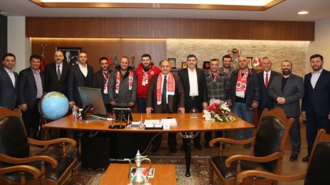 Ümraniyespor 1938 Taraftar Grubu, Başkan Hasan Can'a ziyaret etti