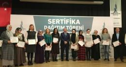 Başkan İsmail Erdem, başarılı girişimcilere sertifikalarını verdi