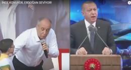 Cumhurbaşkanı Erdoğan ile CHP'li İnce arasındaki fark videoda net görünüyor!