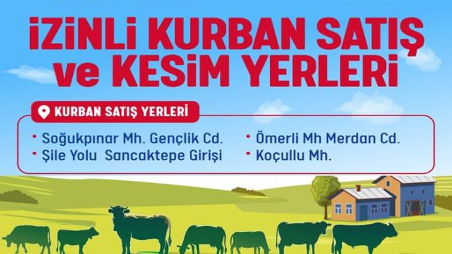 Çekmeköy'de kurban satış ve kesim alanları