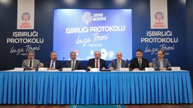 İmzalar 'Zemin İstanbul Projesi' için