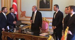 Millilerden Başkan Erdoğan'a ziyaret