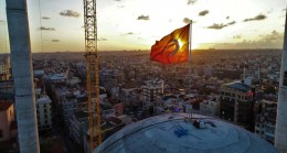 Taksim camiinden günbatımı