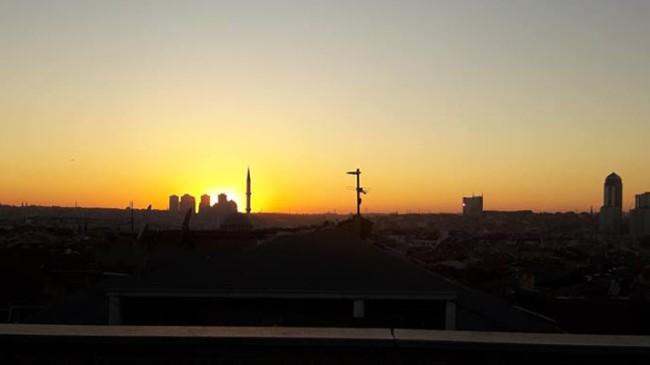 Şule Yüksel'in objektifinden günbatımı