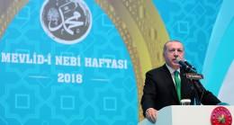 """Başkan Erdoğan, """"Camiler 18 yıl Ezan-ı Muhammedî'ye hasret bırakıldı"""""""