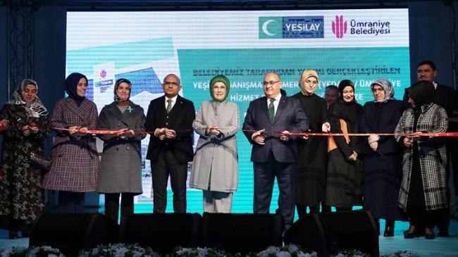 Emine Erdoğan, Ümraniye Yeşilay Danışmanlık Merkezi'ni açılışını gerçekleştirdi