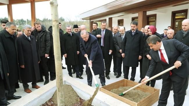 Erdoğan 15 Temmuz Millet Bahçesi'nde