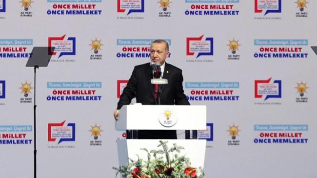 """Erdoğan, """"CHP'ye İstanbul gibi bir şehri teslim etmek, dikeni sulamaktır"""""""