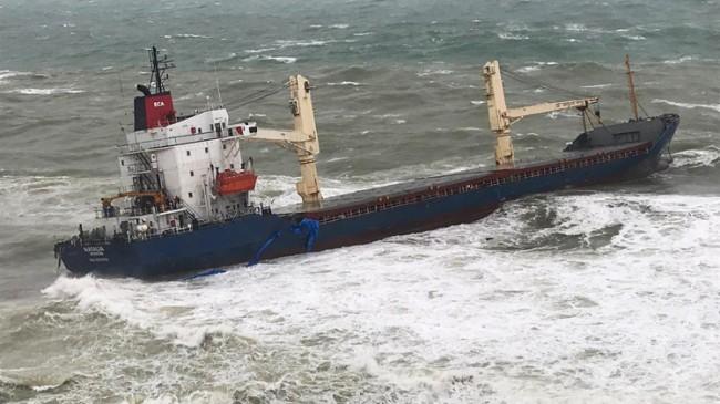 Kargo gemisi Şile'de karaya oturdu