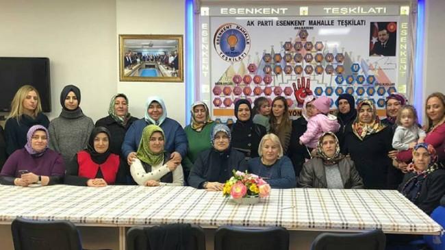 Esenkent'in AK Kadınları sandıklara sıkı sıkıya sahip çıkıyor