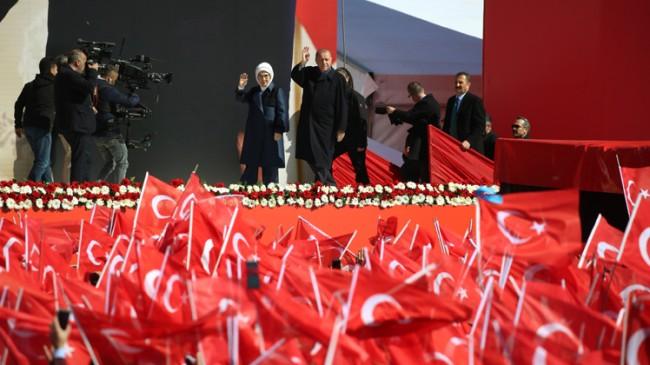 Başkan Erdoğan, konuşmalarına başladı