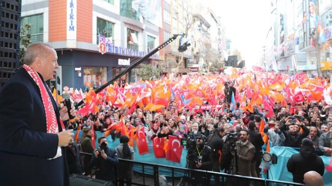 """Başkan Erdoğan, """"Millete sevdalanmadan hizmet olmaz, yatırım olmaz"""""""