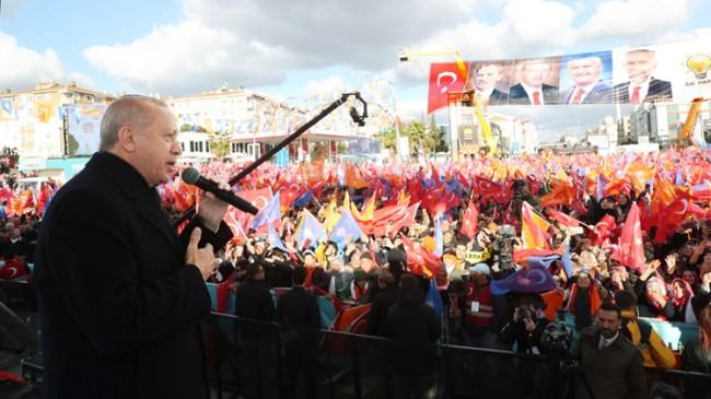 Çekmeköylülerden Recep Tayyip Erdoğan'a sevgi seli