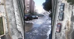 İstanbul'a dolu yağdı